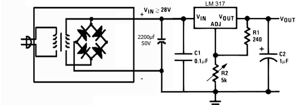 Circuito Lm317 : Fuente variable lm aprendiendo en laconeccion